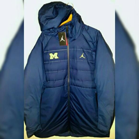 64f51ca201f363 Jordan Michigan Wolverines Goose Down Jacket 2XL